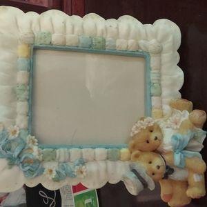 Cherished Teddies wedding picture frame